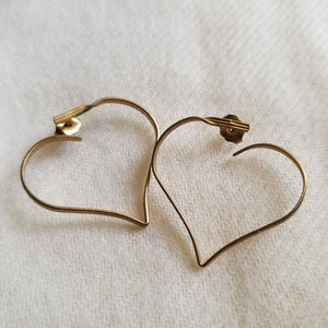 Avon Open Heart Earrings